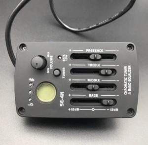 アコースティックギター プリアンプ 4バンド eq ギターパーツ イコライギタープリアンプ ピエゾピックアップ 液晶チューナー