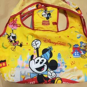 ★ 新品 黄色 muk エコバッグ 鞄 トートバッグ  ディズニーランド ディズニー 香港 海外ディズニー