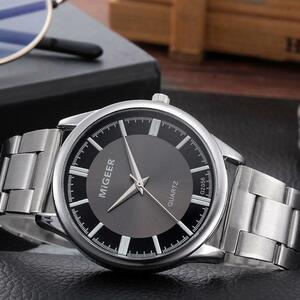 レロジオ masculino ファッションメンズ腕時計メンズクリスタルステンレス鋼アナログクォーツ腕時計ブレスレット時計レロジオ feminino