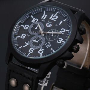 ヴィンテージ古典的なメンズ腕時計防水日付レザーストラップクォーツ軍腕時計メンズカジュアルスポーツ腕時計男性ビジネス腕時計 2020