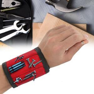 1 個磁気リストバンドハンドラップツール調節可能な電気技師手首ネジ爪ドリルホルダーベルトブレスレット修理のため