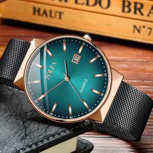 高級メンズ腕時計防水カレンダー腕時計ステンレスクォーツ腕時計カジュアル腕時計メッシュストラップスポーツウォッチ 2020