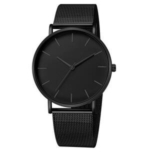 男性腕時計クォーツカジュアル腕時計シンプルな金属時間リロイ石英時計 Montre メッシュステンレス鋼 erkek kol saati masculino 時計