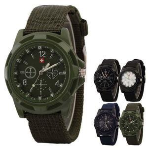 兵士軍事アーミーグリーンダイヤル陸軍スポーツメンズミリタリースタイルクォーツ時計レザースポーツはメンズアーミー軍事腕時計男性 xfcs