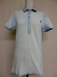 o487 DIESEL レディース半袖ポロシャツ S 綿100%