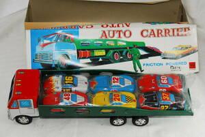 三友 外箱付き オートキャリアー auto carrier トラック 日本製 フリクション FRICTION POWERD ブリキ おもちゃ