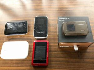 Wi-Fi ポケットWiFi ジャンク5点まとめ売り HW-02E