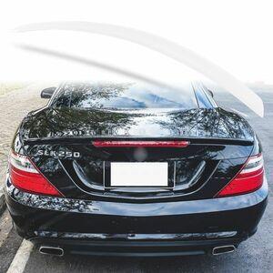 純正色塗装 ABS製 トランクスポイラー メルセデスベンツ SLKクラス R172用 前期 Aタイプ 両面テープ取付 カラーコード:650 MTS-27182