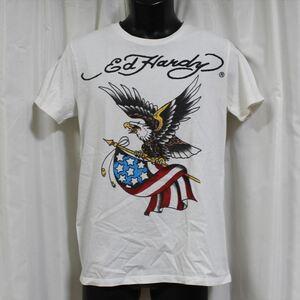 エドハーディー ED HARDY メンズ半袖Tシャツ ホワイト Mサイズ NO10 アウトレット