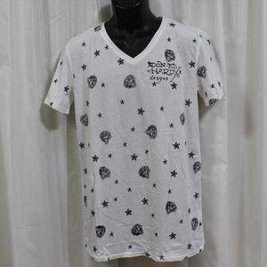 エドハーディー ED HARDY メンズ半袖Tシャツ ホワイト Sサイズ NO22 新品 モノグラム