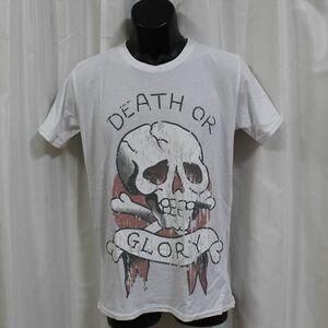エドハーディー ED HARDY メンズ半袖Tシャツ ホワイト Mサイズ NO24 新品