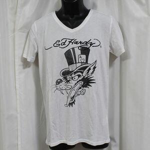 エドハーディー ED HARDY メンズ半袖Tシャツ ホワイト Lサイズ M02TCHB131 新品 白