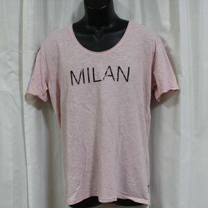 エドハーディー ED HARDY メンズ半袖Tシャツ ピンク Lサイズ M02WIT052 新品 MILAN