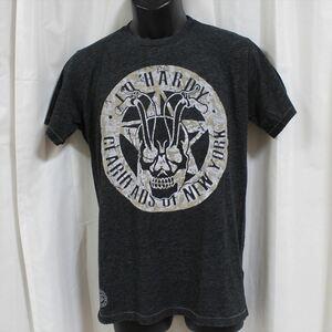 エドハーディー ED HARDY メンズ半袖Tシャツ チャコール Sサイズ NO36 新品