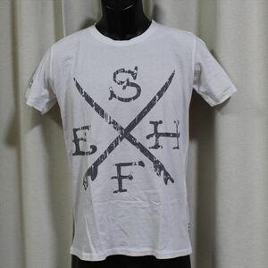 エドハーディー ED HARDY メンズ半袖Tシャツ ホワイト Sサイズ M02SUR179 新品 白
