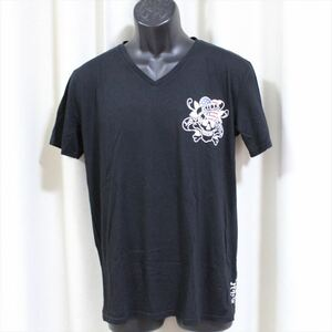 エドハーディー ED HARDY メンズ半袖Tシャツ ブラック Sサイズ M02CMVUS052 新品 U.S.A