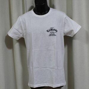 エドハーディー ED HARDY メンズ半袖Tシャツ ホワイト Lサイズ EDT009 新品 白
