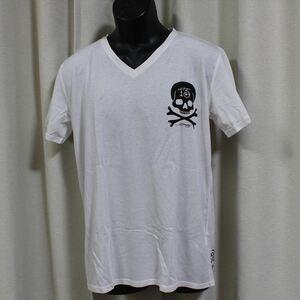 エドハーディー ED HARDY メンズ半袖Tシャツ ホワイト Lサイズ M02CMV552 新品 Vネック