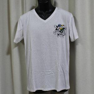 エドハーディー ED HARDY メンズ半袖Tシャツ ホワイト Lサイズ NO46 新品 Vネック