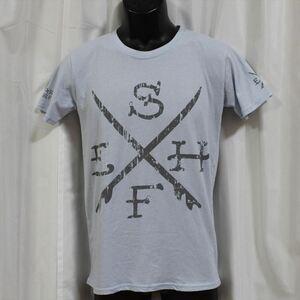 エドハーディー ED HARDY メンズ半袖Tシャツ ライトブルー Sサイズ M02SUR179 新品