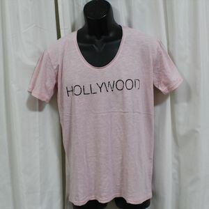 エドハーディー ED HARDY メンズ半袖Tシャツ ピンク Mサイズ NO65 新品 USA