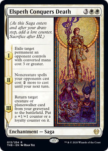 え白 エルズペス、死に打ち勝つ 1枚(4枚在庫s 英 良品 THB)/Elspeth Conquers Death(MTG /テーロス還魂記/Theros Beyond Death/)