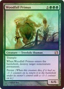 え緑Foil 森滅ぼしの最長老 1枚(1枚在庫s 英 良品 MMA)/Woodfall Primus(MTG /モダンマスターズ/Modern Masters/モダマス/)