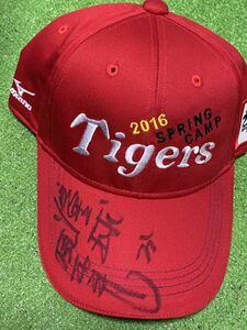 阪神タイガース 31 掛布雅之 直筆サイン入り2016 SPRING CAMP 非売品 関係者キャップ 新品 フリーサイズ