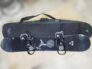 ■□K2 ケーツー スノーボード BURTON 金具付 154cm バインディング付 ソフトケース付属 /AS37□■