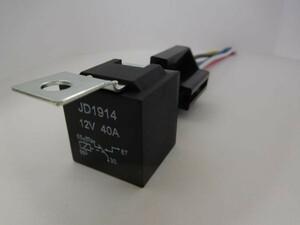 送料込 送料無料 5極リレー 5P 車載リレー DC12V 40A 検) フォグランプ モーター HID ホーン 電装 自作 オプション 追加