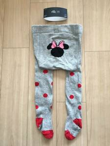 New Unused Baby Gap Minnie Mouse Tight 70cm Gray Red Dot