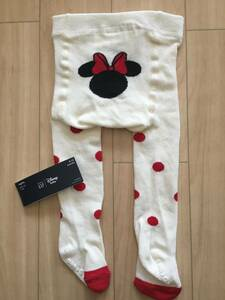 New Unused Baby Gap Minnie Mouse Tights 70cm White × Red Dots
