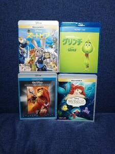 ディズニー Blu-ray 純正ケース付き 4点セット 国内正規品 未再生