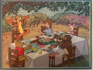 Disney ディズニー くまのプーさん ティガー ピグレット ルー オウル クリストファーロビン セル画 原画 限定 レア 入手困難