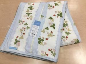 日本製 ウエッジウッド シール織り綿毛布 ワイルドストロベリー シングルB