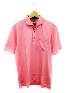 ∞ 23区 オンワード樫山 スポーツ SPORT シャツ ポロシャツ 半袖 L 赤 レッド ゴルフ メンズ 未使用 □GS