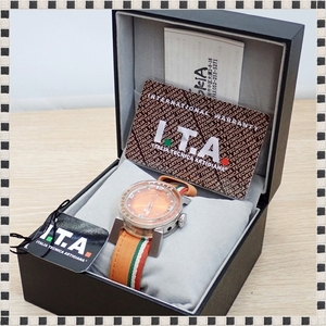 I.T.A アイティーエー 腕時計 N ZERO Sport ボーイズ 00.03.05 クォーツ オレンジ デイト 【 付属品完備 】