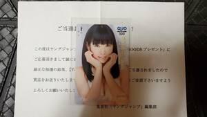 2013年 ヤングジャンプ 抽プレ クオカード 渡辺美優紀 NMB48