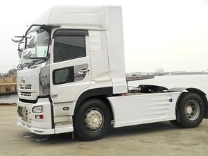 UD クオン トレーラーヘッド トラクター ハイルーフ デフレクター(FRP) 取り付け金具付き