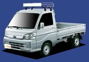 〓スバル サンバートラック(車両型式 S201J/S211J/年式H24.3-H26.8)標準ルーフ用 キャリアCL228A《4本脚・スチールメッキ》業販専用品