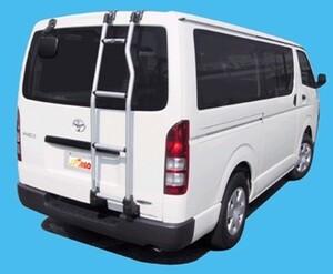 〓トヨタ ハイエースバン(H2#/年式H16.8-)標準ルーフ(標準幅)用(はしご) リアラダーTR18《リアスポイラー装着車不可》業販専用