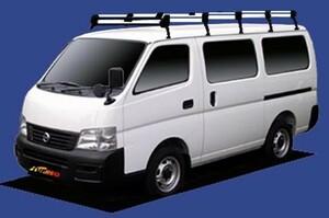 〓イスズ コモ(車両型式 E25/年式H13.5-H24.6)標準ルーフ用 超ロングサイズ キャリアHL45《10本脚・アルミ素材》業販専用品