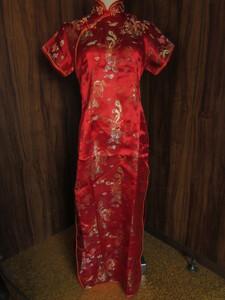 チャイナドレス 赤 レッド 服 パーティ コスプレ ハロウィン 中国 中華 仮装 キャバ嬢 ageha