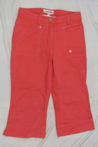 n9410 le coq sportif golf collection/ルコックゴルフ レディースパンツ ゴルフウェア サーモンピンク系 サイズ9