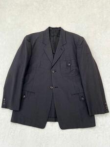 Y`s for men 春夏 ジャケット sizeM ミリタリー サファリ ブラック 墨黒 ワイズフォーメン ヨウジヤマモトプールオム メンズ