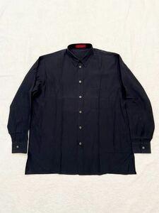 Y`s for men YOHJI YAMAMOTO シルク混 長袖シャツ ビッグシルエット ブラック 黒 ワイズフォーメン ヨウジヤマモトプールオム 春夏