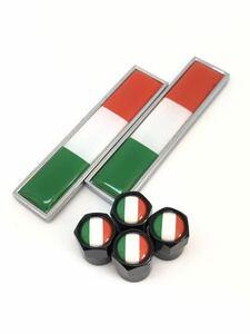 A イタリア 国旗 エアーバルブキャップ フェンダー ステッカー フェラーリ F355 458 テスタロッサ 308 328 348 355 456 458 488 575 599 b