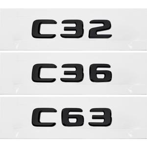 メルセデス ベンツ C クラス W201 W202 W203 W204 W205 W463 W210 W220 C32 C36 C63 AMG リアテール数文字ステッカー