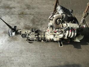 パジェロミニ エンジン ミッションAssy 純正 H56A 即決 H7年 4A30 5MT 4WD インタークーラーターボ