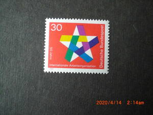 ILO50年記念ー5角の星 1種完 1969年 未使用 ドイツ・独国 VF/NH